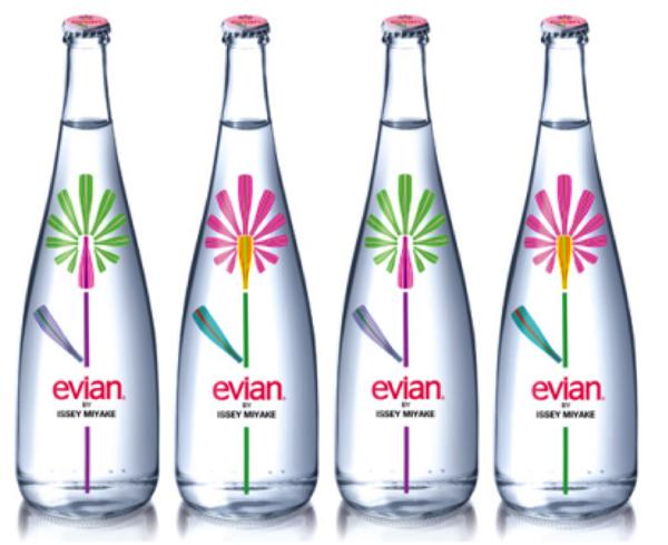 Bouteille Evian design