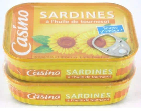 Contamination à l'histamine de boîtes de sardines chez Casino.