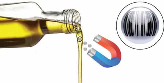 Étiquettes: des micro codes à barres dans l'huile