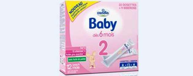 Alimentation infantile: Candia lance son lait en dosettes