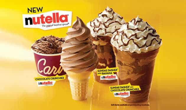 Nutella se lance dans les glaces