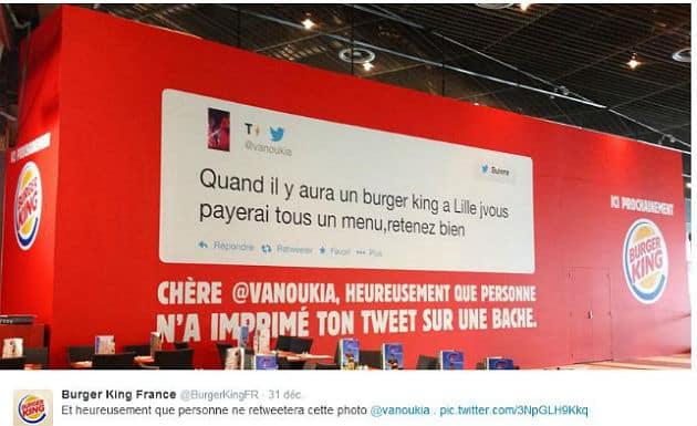 Burger King à Lille: une stratégie de communication qui détonne