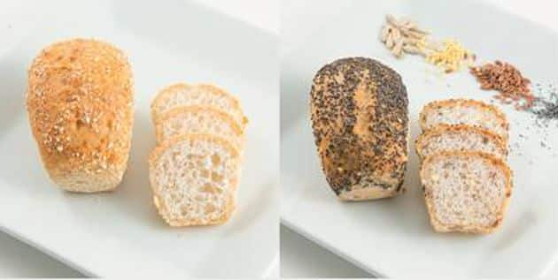 GAMME SANS GLUTEN, de BRIDOR. La marque Bridor vient de lancer toute une gamme de produit de boulangerie sans gluten: deux petits pains individuels moulés nature et aux graines, une petite briochette pur beurre au  sucre et une petite madeleine pur beurre.