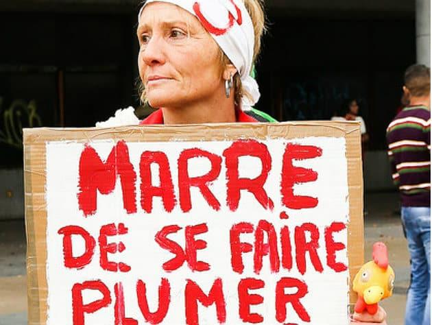 Les salariés d'AIM manifestent à Paris «pour l'emploi»