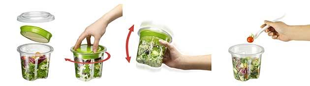 Avec le Turn'n Shake®, CGL Pack invente une solution pour diffuser la sauce sur le produit  sans avoir à ouvrir l'emballage