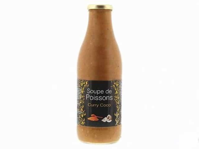 Rappel produit : Les Délices de la Mer rappellent leurs bouteilles de soupe de poissons curry coco