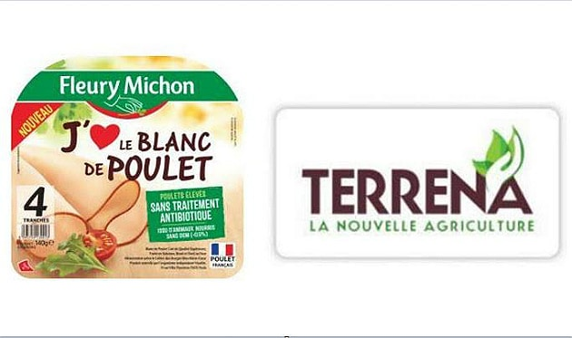 Fleury Michon et Terrena lancent une gamme de poulet sans OGM, ni antibiotiques