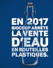 Chez Biocoop, l'eau en bouteille plastique, c'est fini!