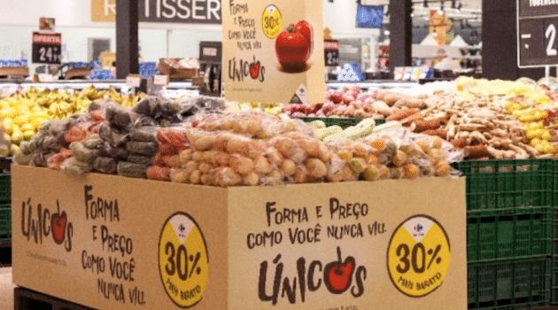 Carrefour commercialise des aliments éloignés des standards esthétiques