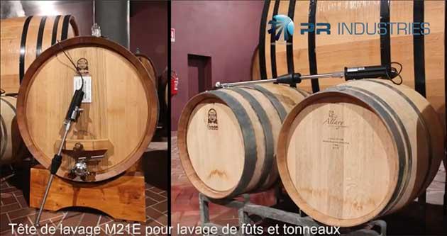 Secteur viticole : Les têtes de lavage de PR Industries