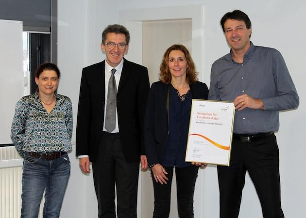 Endress+Hauser France reçoit le diplômeR4E selon l'EFQM pour l'ensemble de sesactivités