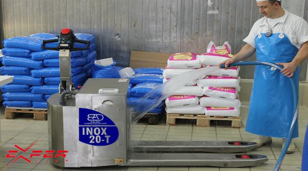 Experlift présente sa gamme de transpalette 100% inox