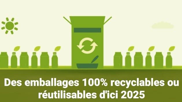 Nestlé annonce 100% d'emballages recyclables d'ici à 2025