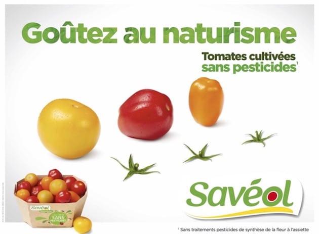 Savéol accompagne sa nouvelle gamme de tomates Sans Pesticides avec humour