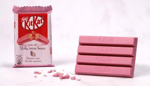 Nestlé lance un nouveau Kitkat en chocolat Ruby