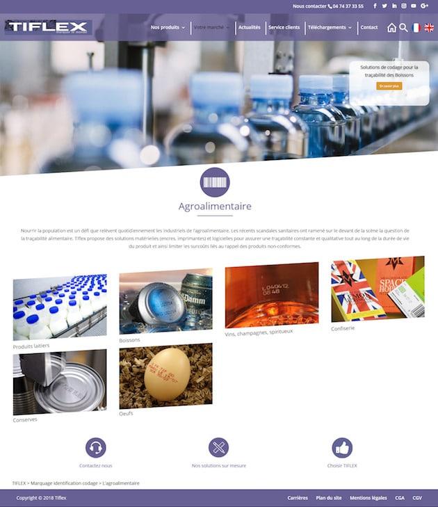 Codage et marquage industriels : Un nouveau site internet pour Tiflex