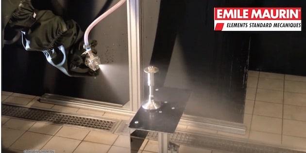 Test de nettoyage sur pied hygiénique EHEDG 35-130 de chez Emile Maurin