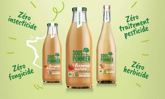 Zéro traitement : Sous Le Pommier va présenter son Jus Pétillant Pomme Nature