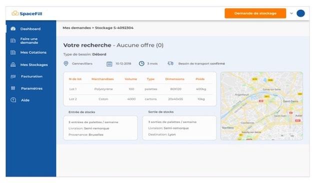 Logistique et digitalisation : La startup SpaceFil lève 1M€ pour développer le plus grand réseau flexible d'entreposage en Europe