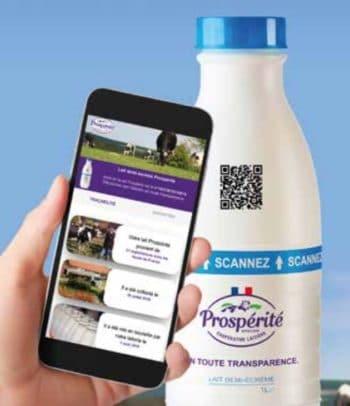 La première bouteille de lait certifié, tracé et audité en temps réel