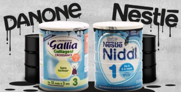 Contamination : foodwatch exige le rappel immédiat des laits pour bébés Nestlé et Danone