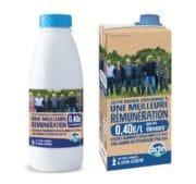 Emballage : Des éleveurs sur les briques et bouteilles de lait