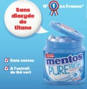Confiseries: 14% de croissance pour le Mentos Pure Fresh Menthe sans dioxyde de titane
