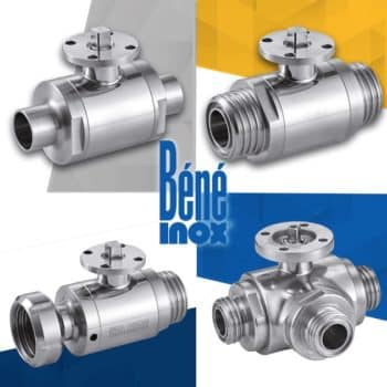 Robinetterie: Béné Inox motorise ses vannes à boule grâce à la platine ISO