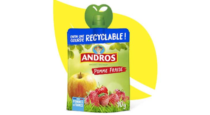 Emballage : Andros lance ses gourdes recyclables