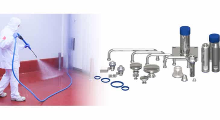 Innovation : Des pieds et accessoires hygiéniques inox adaptés au nettoyage préventif et curatif haute-pression