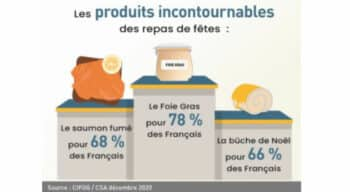 Consommation : Le foie gras en tête devant le saumon fumé et la bûche de Noël