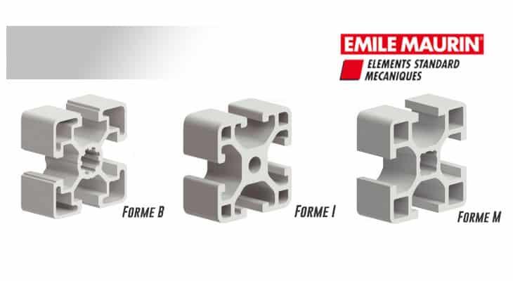 Emile Maurin ajoute une nouvelle série de profilés aluminium et accessoires à son catalogue