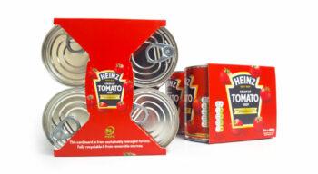 Heinz opte pour l'emballage multipack en carton Cluster-Wing de WestRock