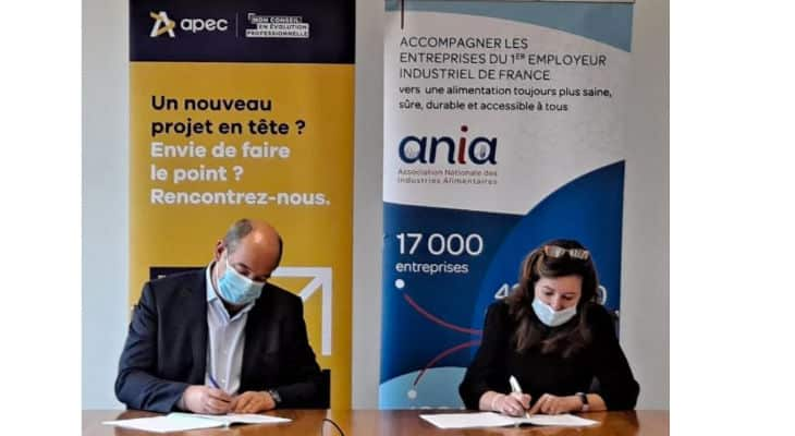 L'ANIA et l'APEC signent une convention pour promouvoir l'emploi des cadres dans le secteur alimentaire