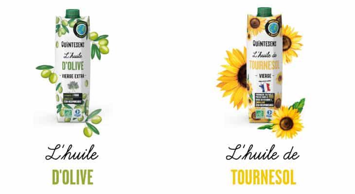 Quintesens élargit sa gamme d'huiles bio en emballage écologique
