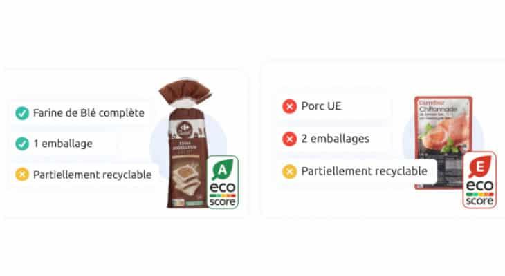 Impact environnemental : Carrefour affiche l'Eco-score